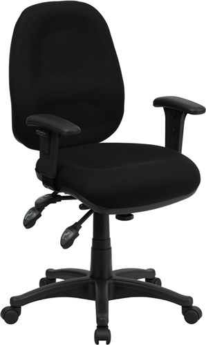 mid back multi functional black fabric swivel computer chair bt 662