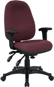 Mid-Back Multi-Functional Burgundy Fabric Swivel Computer Chair by Flash Furniture