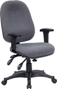 Mid-Back Multi-Functional Gray Fabric Swivel Computer Chair by Flash Furniture