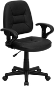Mid-Back Black Leather Ergonomic Task Chair by Flash Furniture