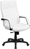 High Back White Leather Executive Office Chair by Flash Furniture