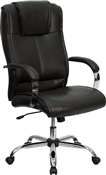 High Back Brown Leather Executive Office Chair by Flash Furniture