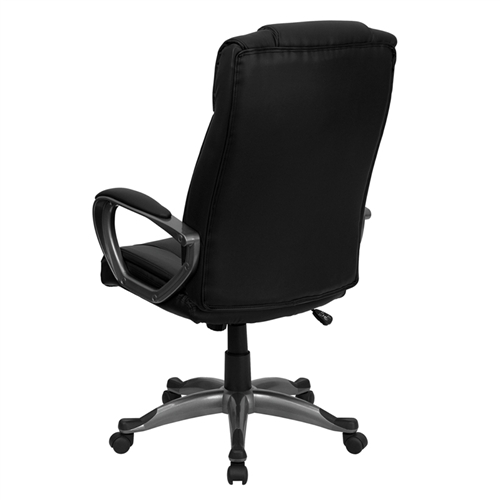 high back black leather executive office chair bt 9177 bk gg by