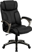 High Back Folding Black Leather Executive Office Chair by Flash Furniture