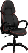 High Back Black Vinyl Executive Office Chair by Flash Furniture