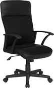 High Back Black Leather / Mesh Combination Executive Swivel Office Chair by Flash Furniture