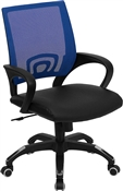 Mid-Back Blue Mesh Computer Chair by Flash Furniture