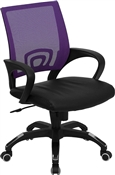 Mid-Back Purple Mesh Computer Chair by Flash Furniture