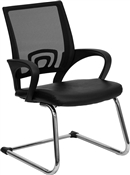 Black Leather Office Side Chair by Flash Furniture