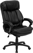 HERCULES Series High Back Black Leather Executive Office Chair by Flash Furniture