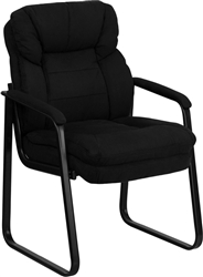 Black Microfiber Executive Side Chair by Flash Furniture