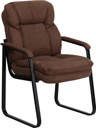 Brown Microfiber Executive Side Chair by Flash Furniture
