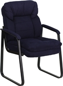 Navy Microfiber Executive Side Chair by Flash Furniture