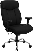 HERCULES Series 350 lb. Capacity Big & Tall Black Fabric Office Chair with Arms by Flash Furniture