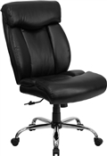 HERCULES Series 350 lb. Capacity Big & Tall Black Leather Office Chair by Flash Furniture