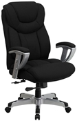 HERCULES Series 400 lb. Capacity Big & Tall Black Fabric Office Chair with Arms by Flash Furniture