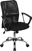 Mid-Back Black Mesh Computer Chair by Flash Furniture