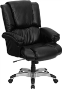 High Back Black Leather OverStuffed Executive Office Chair by Flash Furniture