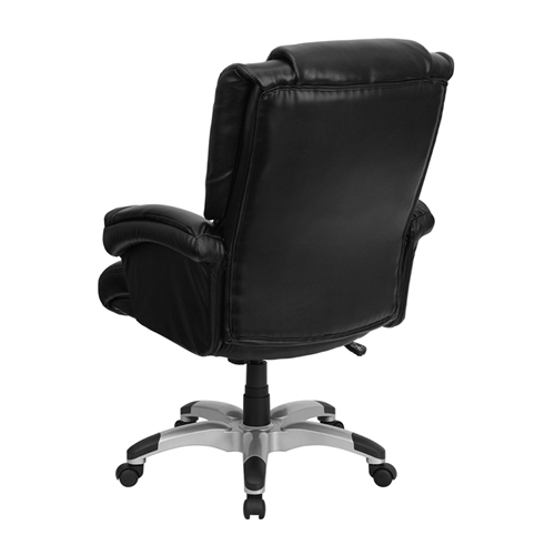 high back black leather overstuffed executive office chair go 958 bk