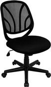 Y-GO Chair™ Mid-Back Black Mesh Computer Task Chair by Flash Furniture