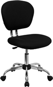 Mid-Back Black Mesh Task Chair with Chrome Base by Flash Furniture