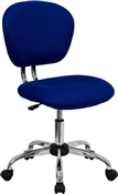Mid-Back Blue Mesh Task Chair with Chrome Base by Flash Furniture