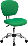 Mid-Back Bright Green Mesh Task Chair with Chrome Base by Flash Furniture