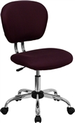 Mid-Back Burgundy Mesh Task Chair with Chrome Base by Flash Furniture
