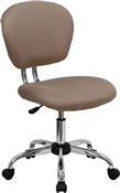 Mid-Back Coffee Brown Mesh Task Chair with Chrome Base by Flash Furniture