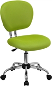 Mid-Back Apple Green Mesh Task Chair with Chrome Base by Flash Furniture