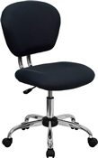 Mid-Back Gray Mesh Task Chair with Chrome Base by Flash Furniture