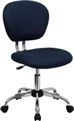 Mid-Back Navy Mesh Task Chair with Chrome Base by Flash Furniture