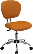 Mid-Back Orange Mesh Task Chair with Chrome Base by Flash Furniture
