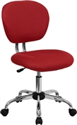 Mid-Back Red Mesh Task Chair with Chrome Base by Flash Furniture
