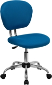 Mid-Back Turquoise Mesh Task Chair with Chrome Base by Flash Furniture