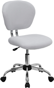Mid-Back White Mesh Task Chair with Chrome Base by Flash Furniture