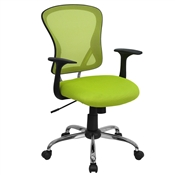 Mid-Back Green Mesh Office Chair by Flash Furniture