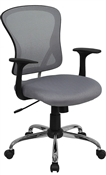 Mid-Back Gray Mesh Office Chair with Chrome Finished Base by Flash Furniture