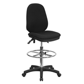 Ergonomic Multi-Function Triple Paddle Drafting Stool by Flash Furniture