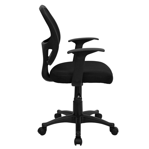 mid back black mesh computer chair lf w 118a bk gg by flash