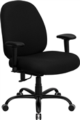 HERCULES Series 400 lb. Capacity Big and Tall Black Fabric Office Chair with Arms and Extra WIDE Seat by Flash Furniture