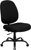 HERCULES Series 400 lb. Capacity Big and Tall Black Fabric Office Chair with Extra WIDE Seat by Flash Furniture