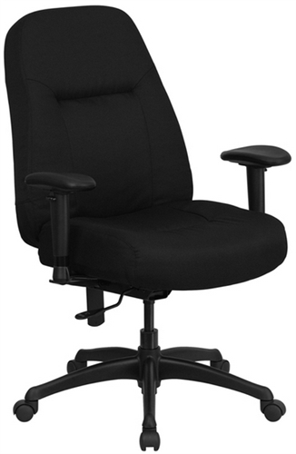 Capacity High Back Tall Black Fabric Office Chair With