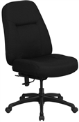 HERCULES Series 400 lb. Capacity High Back Big & Tall Black Fabric Office Chair with Extra WIDE Seat by Flash Furniture