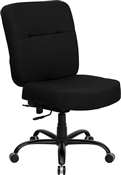 HERCULES Series 400 lb. Capacity High Back Big & Tall Black Fabric Office Chair with Height Adjustable Arms and Extra WIDE Seat by Flash Furniture
