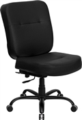 HERCULES Series 400 lb. Capacity Big & Tall Black Leather Office Chair with Extra WIDE Seat by Flash Furniture