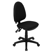 Mid-Back Black Fabric Multi-Functional Task Chair with Adjustable Lumbar Support by Flash Furniture