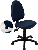 Mid-Back Navy Blue Fabric Multi-Functional Task Chair with Adjustable Lumbar Support by Flash Furniture