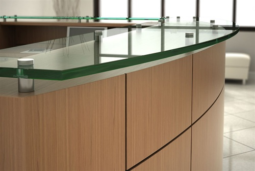 Friant Willow Series Custom Reception Lobby Desks