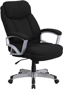 Flash HERCULES Series Big & Tall 500 lb. Rated Black Fabric Executive Swivel Chair with Arms - GO-1850-1-FAB-GG